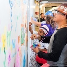 Patients Add Color to PICU Construction Zone